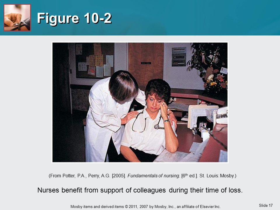 Nurses benefit from support of colleagues during their time of loss.