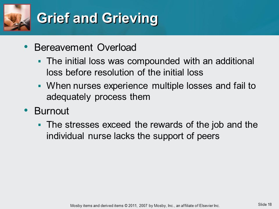 Grief and Grieving Bereavement Overload Burnout
