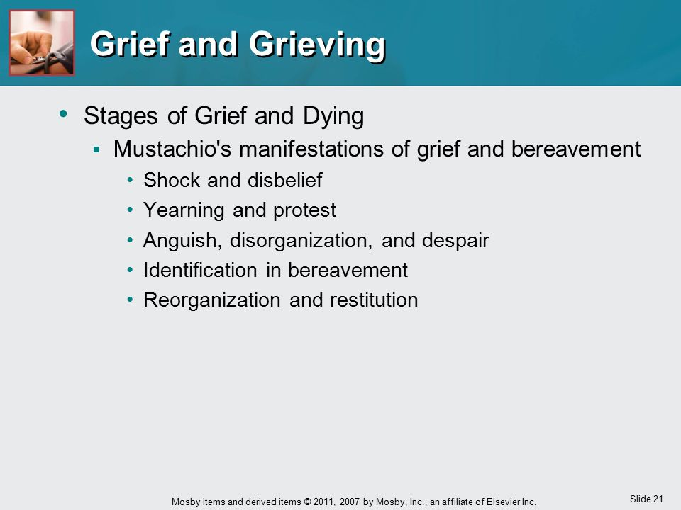 Grief and Grieving Stages of Grief and Dying