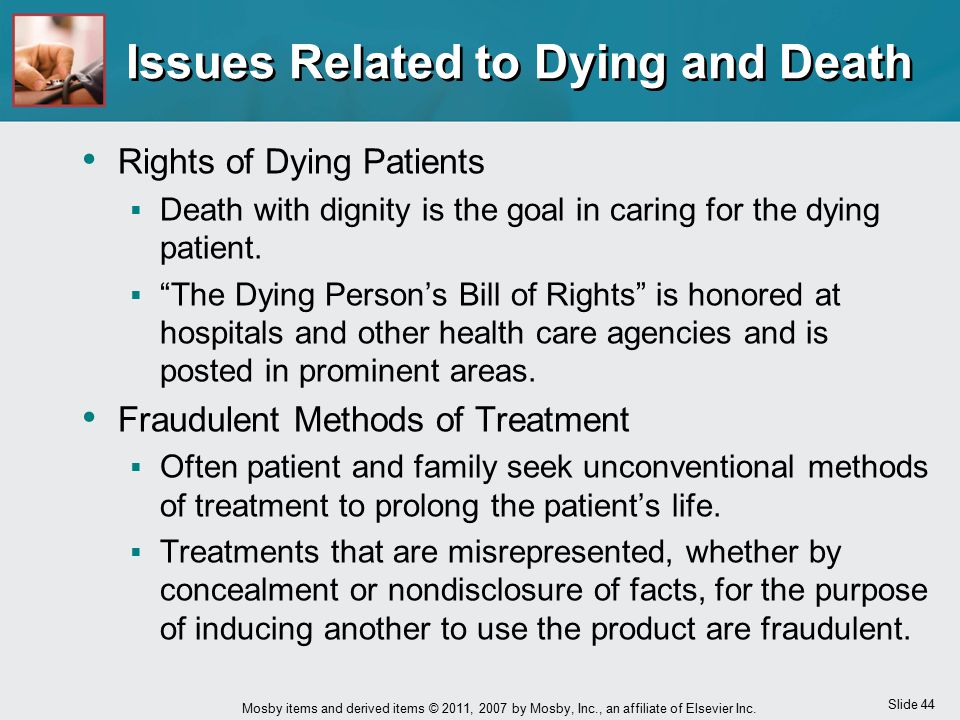Issues Related to Dying and Death