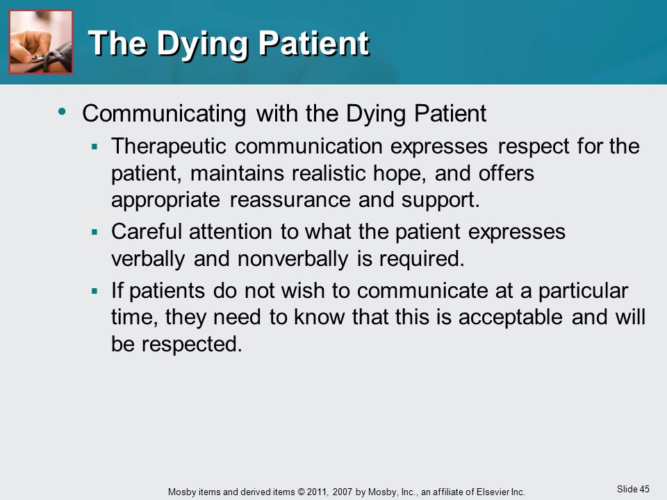 The Dying Patient Communicating with the Dying Patient