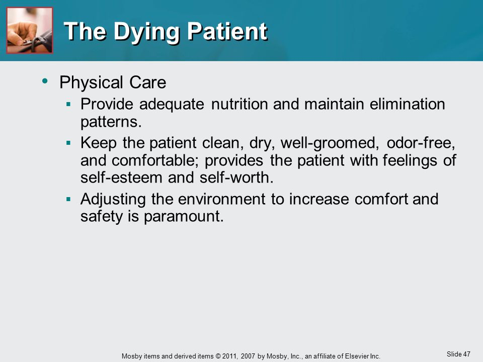 The Dying Patient Physical Care