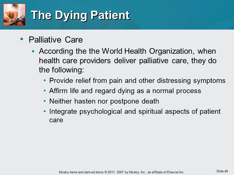 The Dying Patient Palliative Care