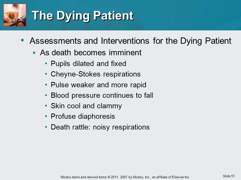 The Dying Patient Assessments and Interventions for the Dying Patient