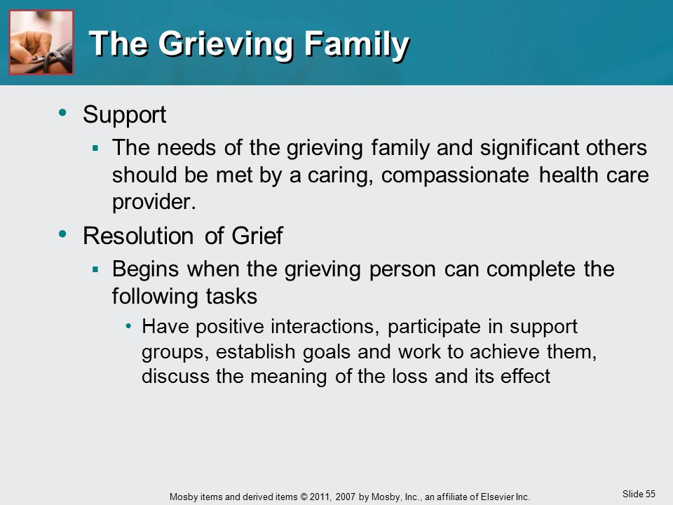 The Grieving Family Support Resolution of Grief