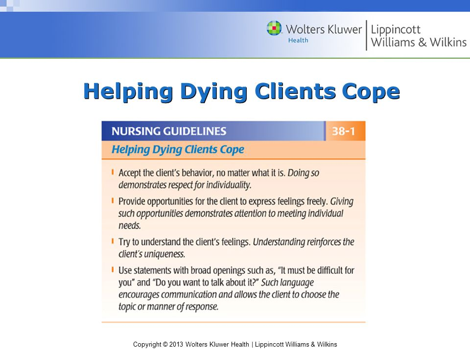Helping Dying Clients Cope