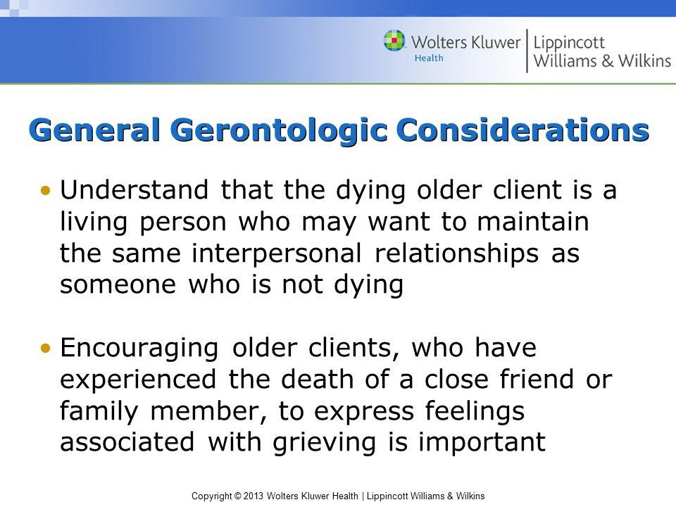 General Gerontologic Considerations