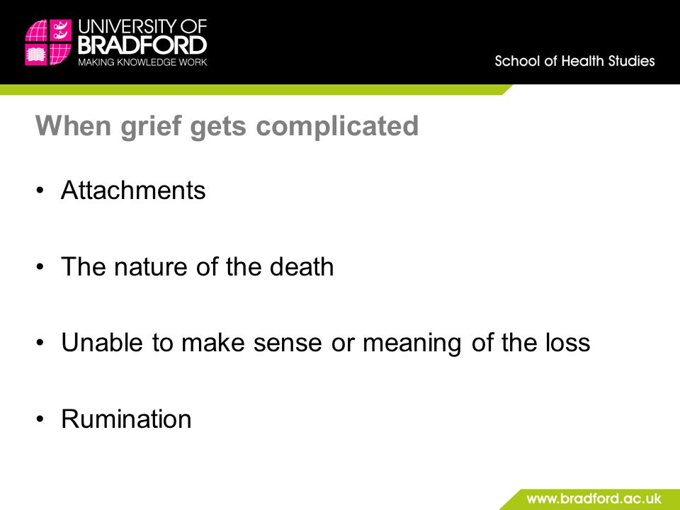 When grief gets complicated