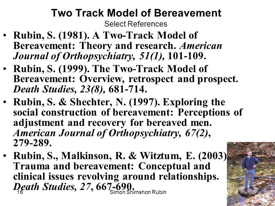 Two Track Model of Bereavement Select References