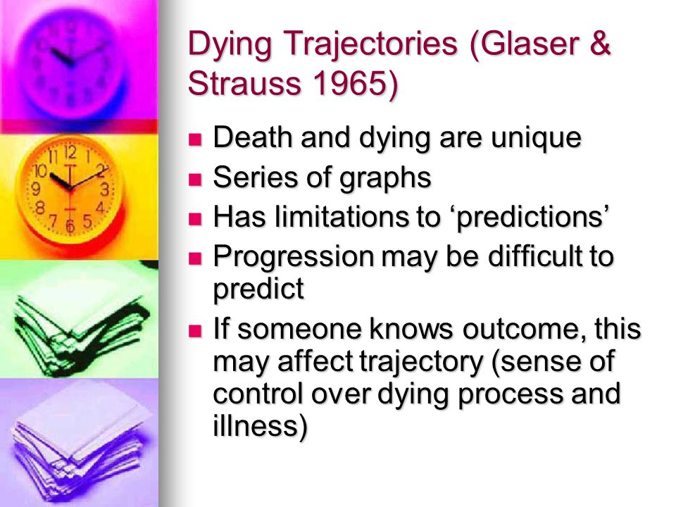 Dying Trajectories (Glaser & Strauss 1965)