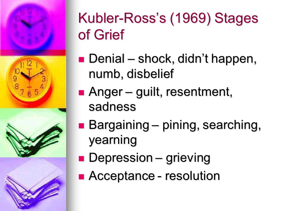 Kubler-Ross's (1969) Stages of Grief