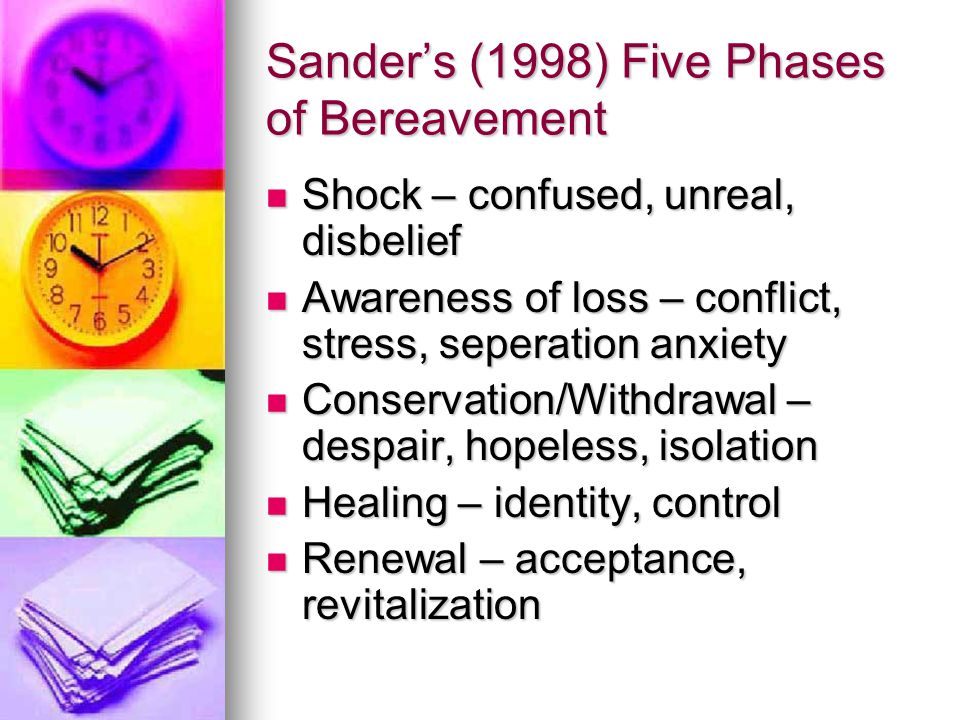 Sander's (1998) Five Phases of Bereavement