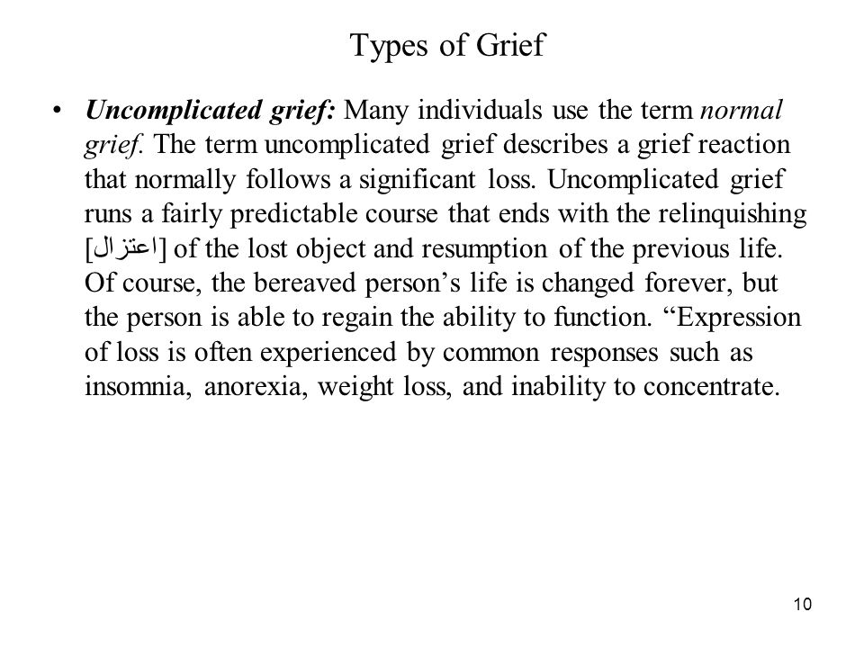 Types of Grief