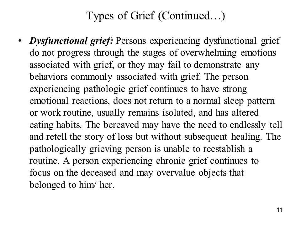 Types of Grief (Continued…)