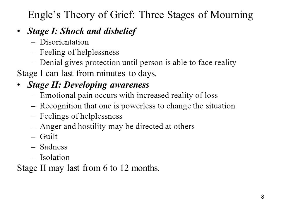 Engle's Theory of Grief: Three Stages of Mourning