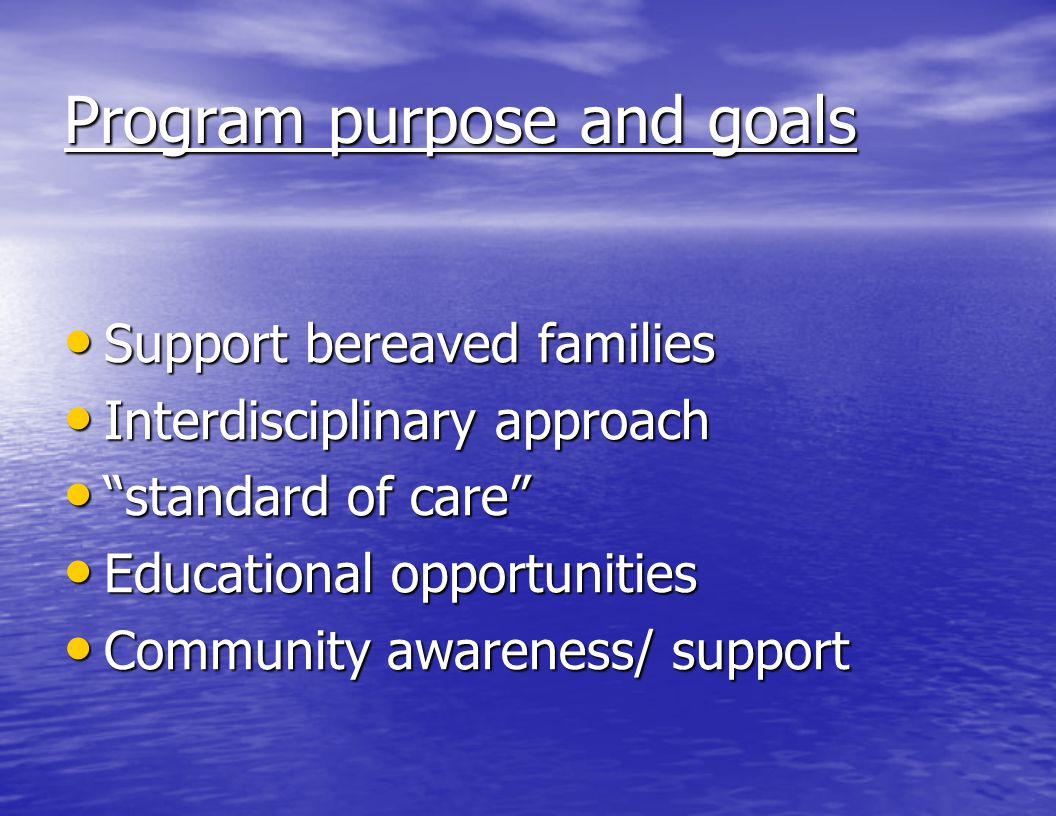 Program purpose and goals