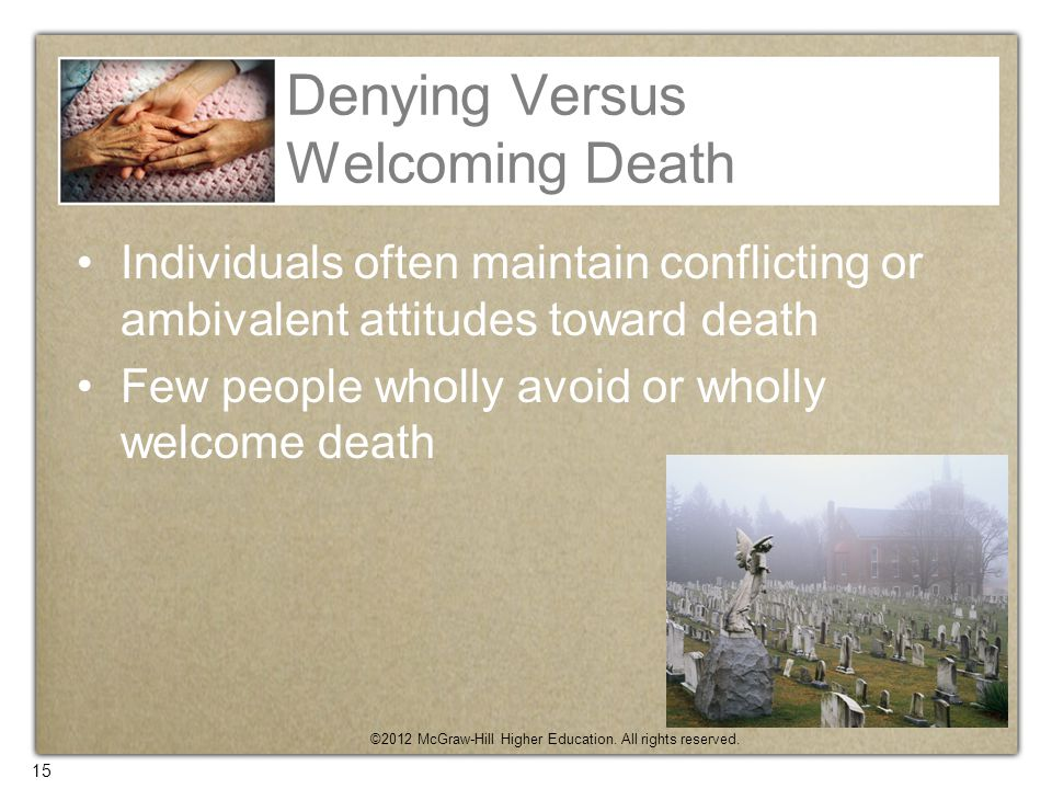 Denying Versus Welcoming Death