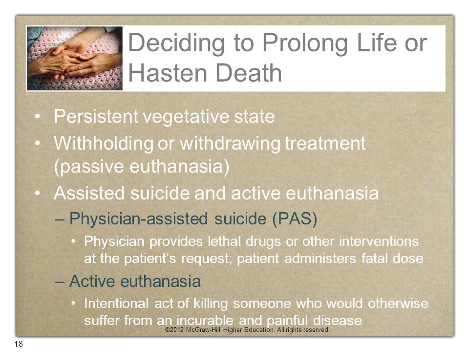 Deciding to Prolong Life or Hasten Death