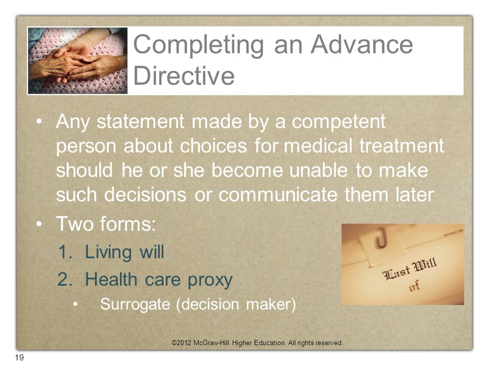 Completing an Advance Directive