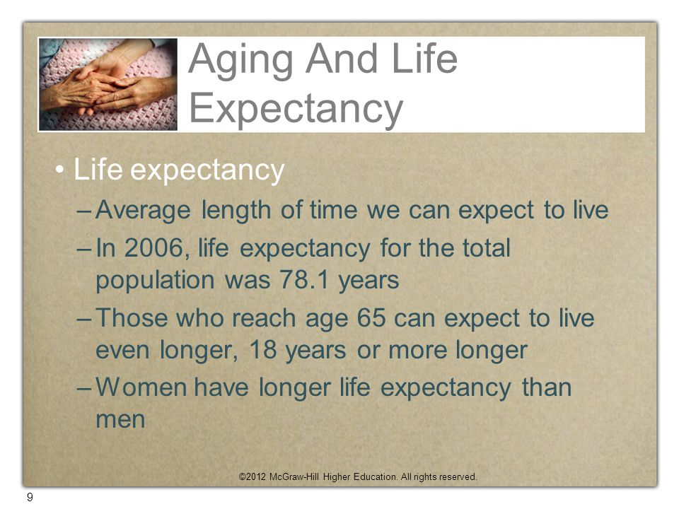Aging And Life Expectancy