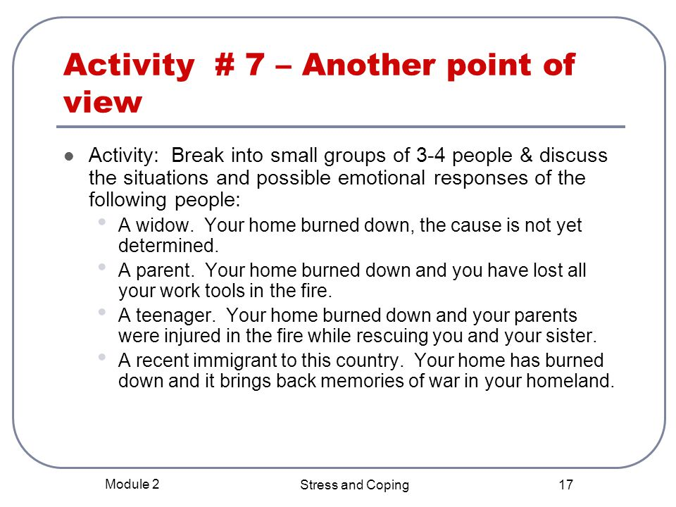 Activity # 7 – Another point of view