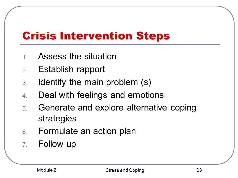 Crisis Intervention Steps