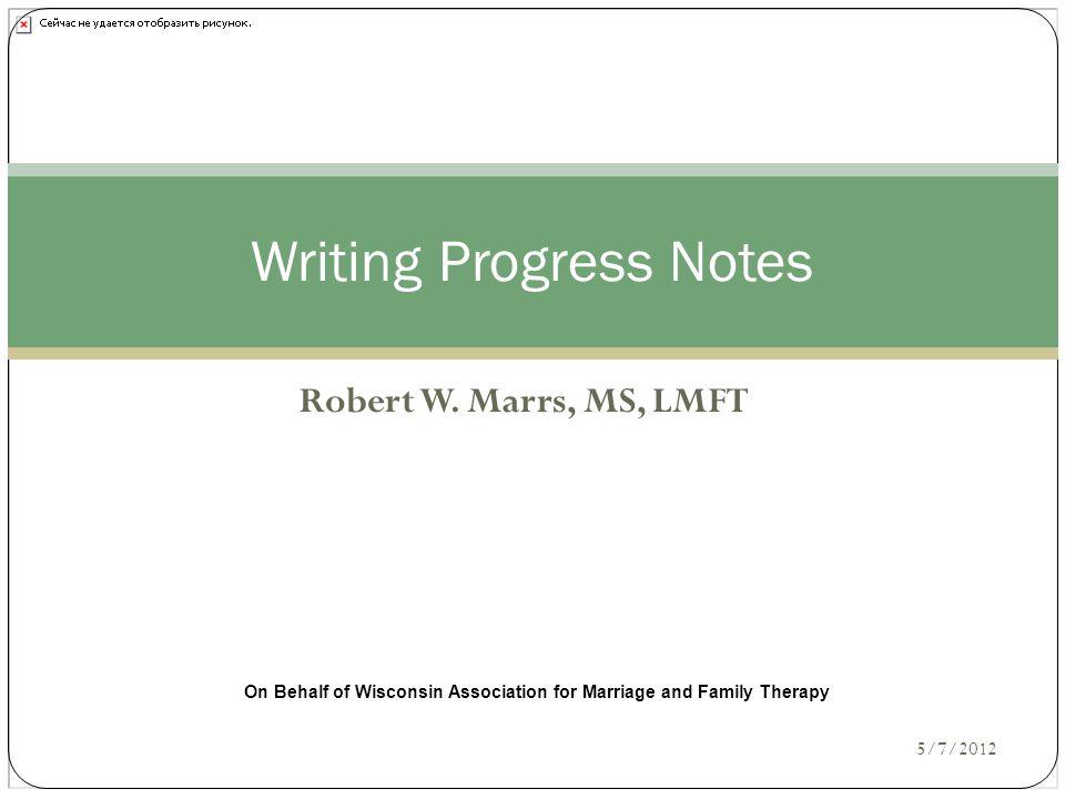 Writing Progress Notes