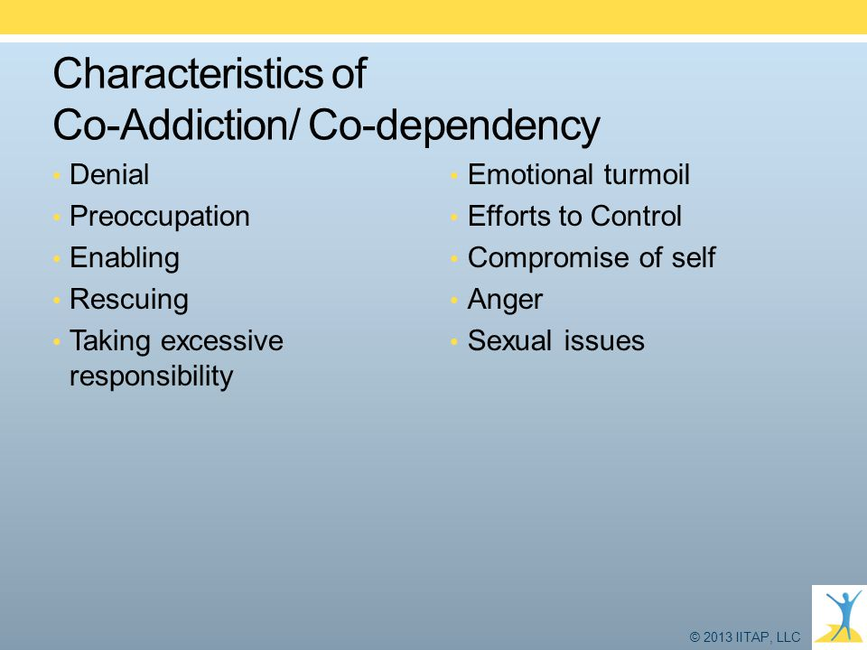 Characteristics of Co-Addiction/ Co-dependency