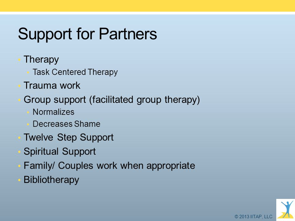 Support for Partners Therapy Trauma work