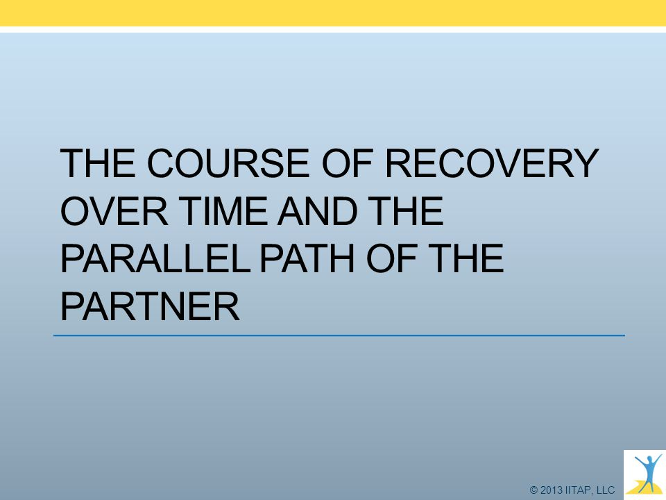 The course of recovery over time and the parallel path of the partner