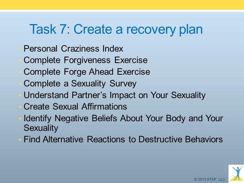 Task 7: Create a recovery plan