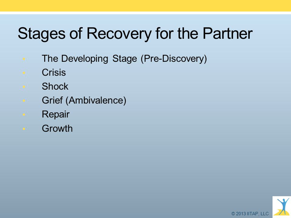 Stages of Recovery for the Partner