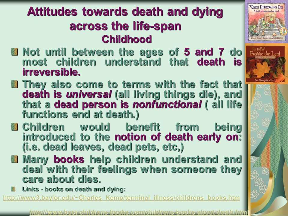 Attitudes towards death and dying across the life-span