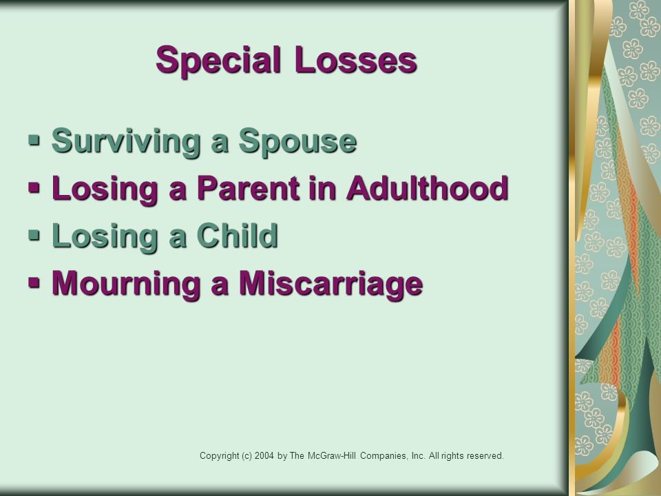 Special Losses Surviving a Spouse Losing a Parent in Adulthood