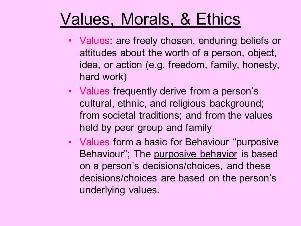 Values, Morals, & Ethics