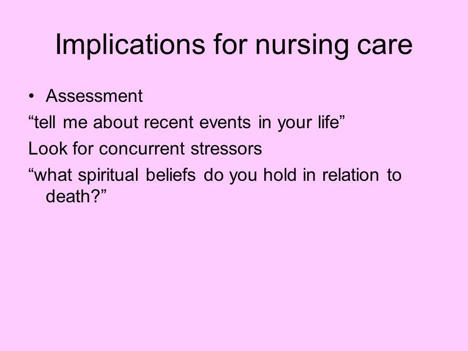 Implications for nursing care