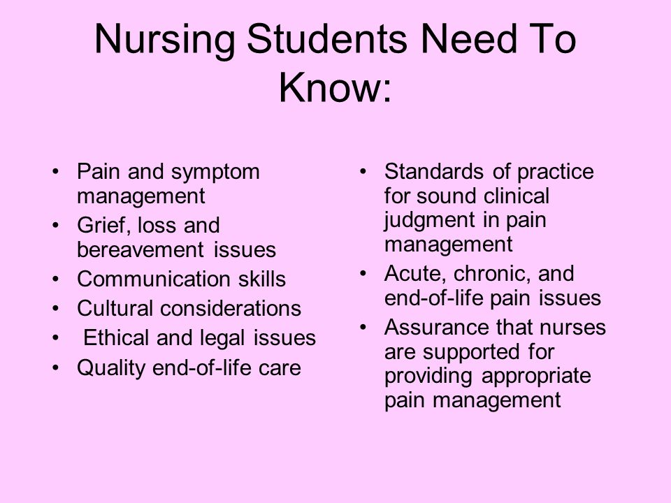 Nursing Students Need To Know: