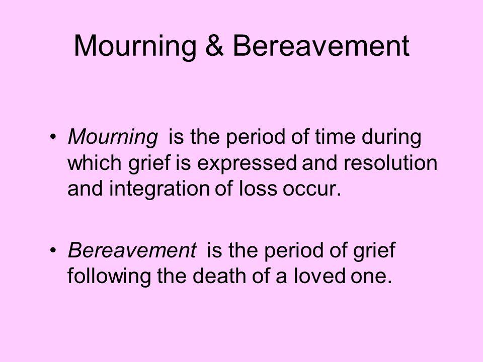 Mourning & Bereavement