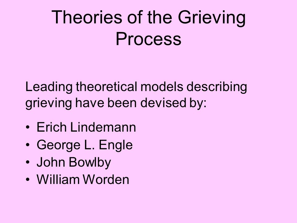 Theories of the Grieving Process