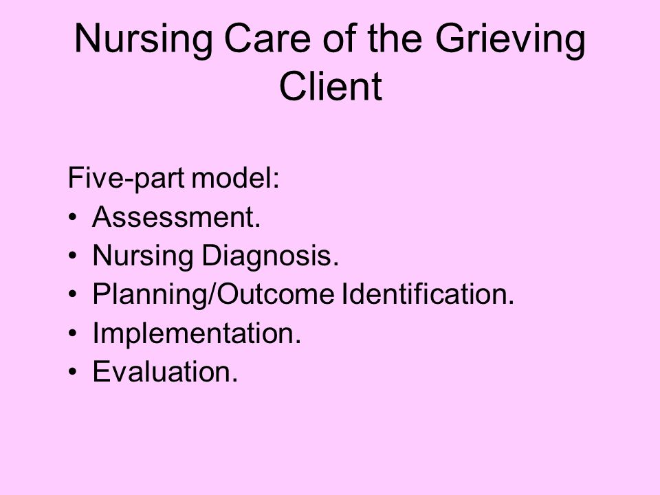 Nursing Care of the Grieving Client