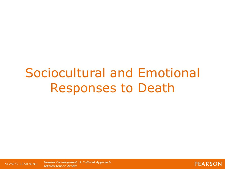 Sociocultural and Emotional Responses to Death