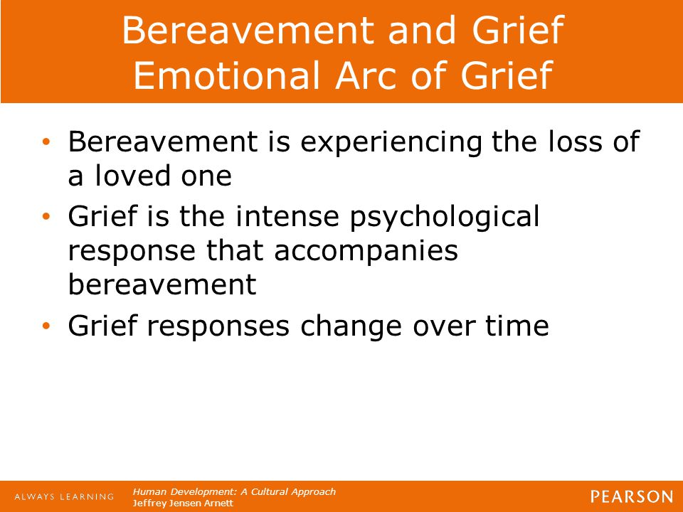 Bereavement and Grief Emotional Arc of Grief
