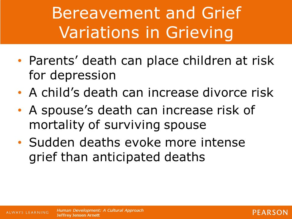 Bereavement and Grief Variations in Grieving