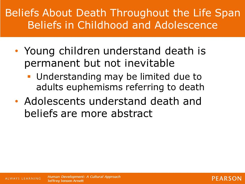 Young children understand death is permanent but not inevitable