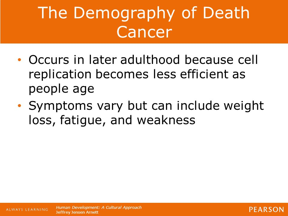 The Demography of Death Cancer