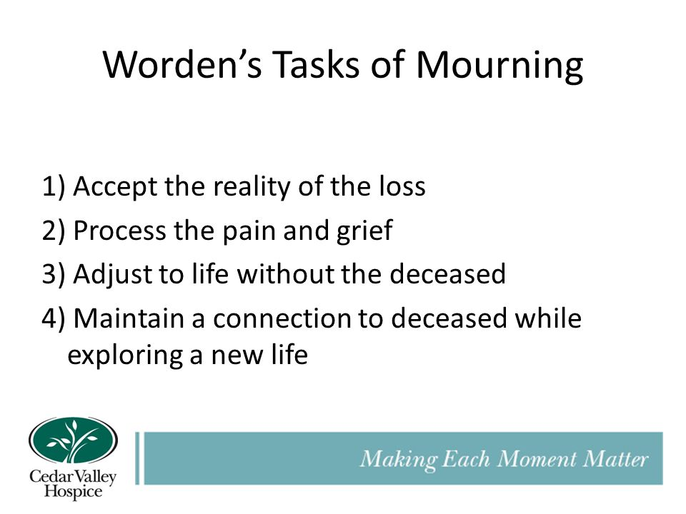 Worden's Tasks of Mourning