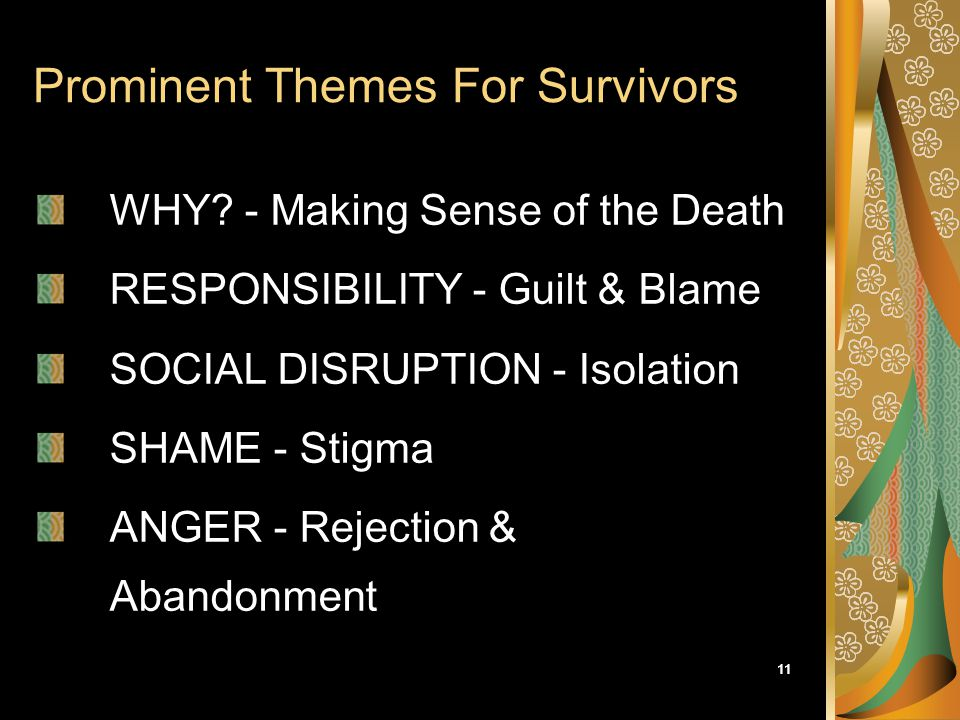 Prominent Themes For Survivors