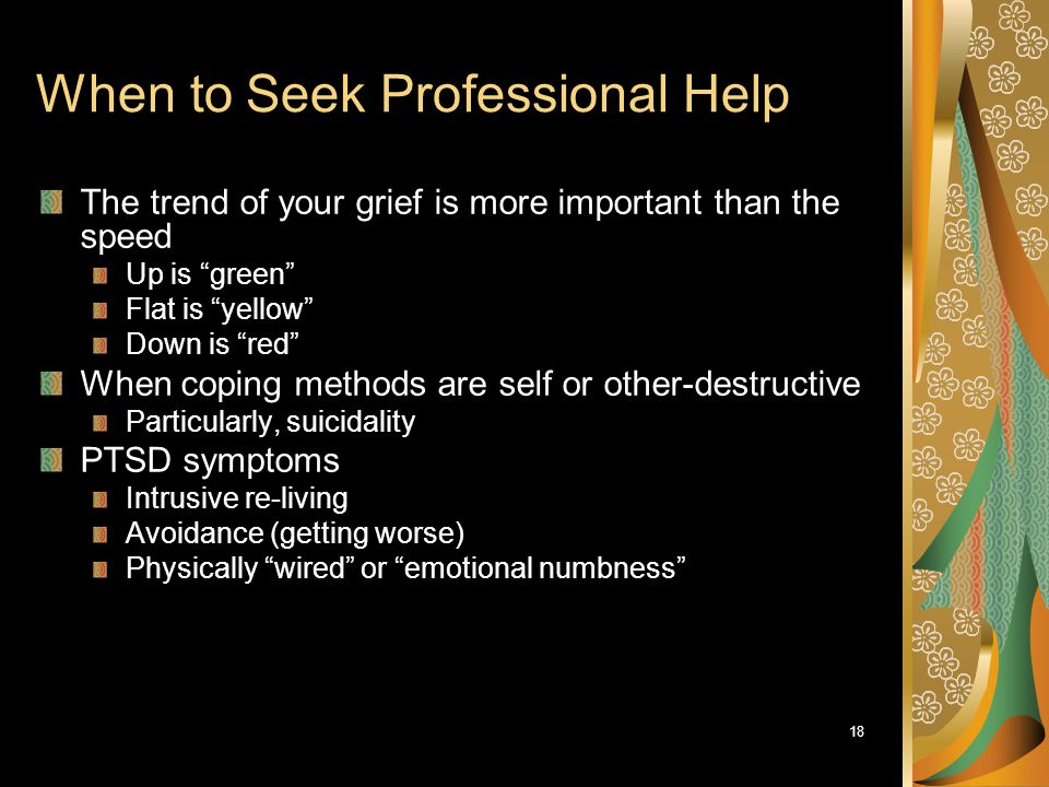 When to Seek Professional Help