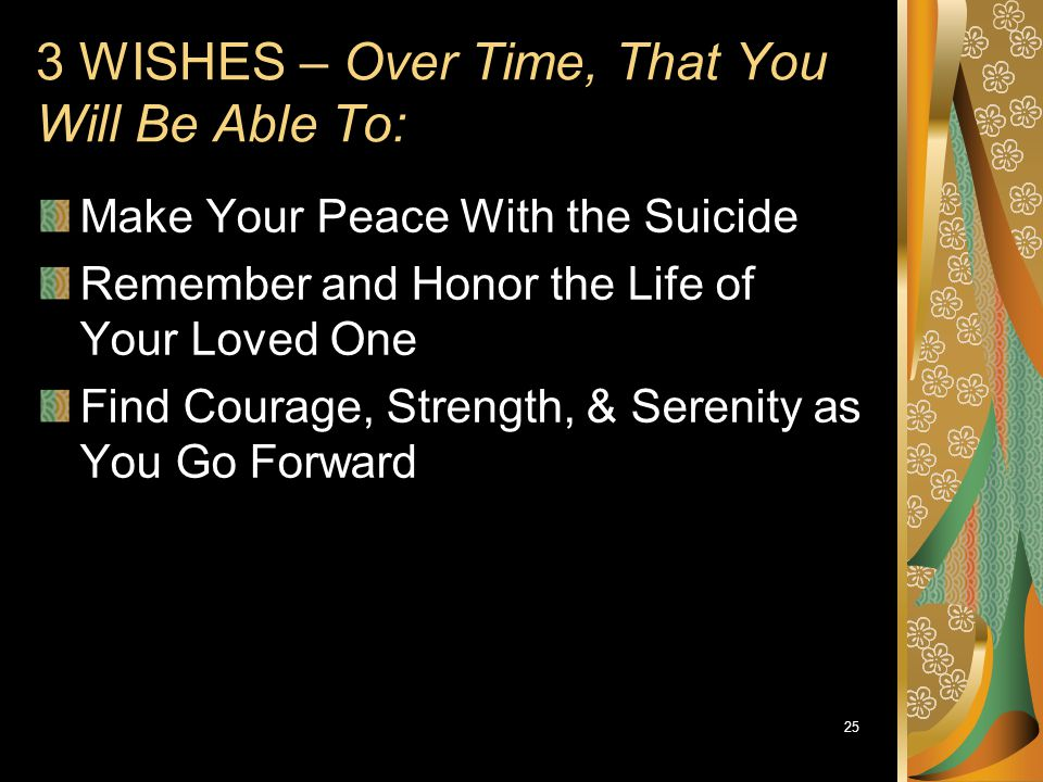3 WISHES – Over Time, That You Will Be Able To: