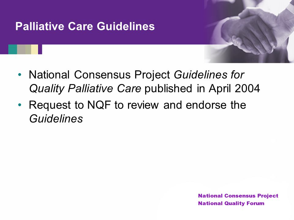 Palliative Care Guidelines
